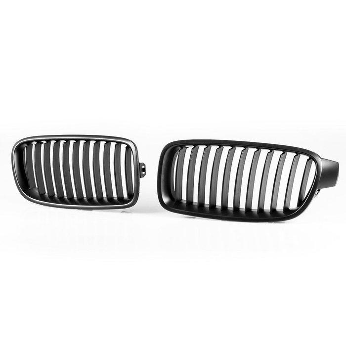 [消光黑] Urban樣式 11桿 水箱罩鼻頭格柵 寶馬BMW 3系列 F30 F31用 2012-2018年式適用