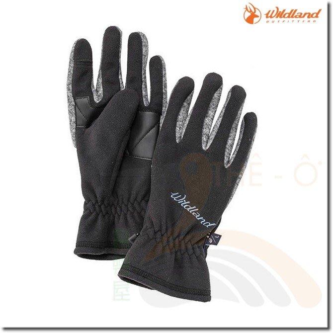 荒野 WILDLAND  中性防風保暖翻指手套 W2011-54黑 保暖手套 防風/刷毛/保暖 喜樂屋戶外