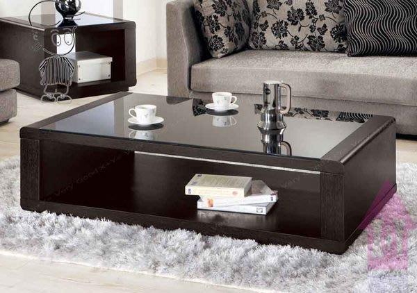 【X+Y時尚精品傢俱】現代客廳系列-維達 4.3尺大茶几-桌面10mm黑色烤漆玻璃-不含小茶几.摩登家具