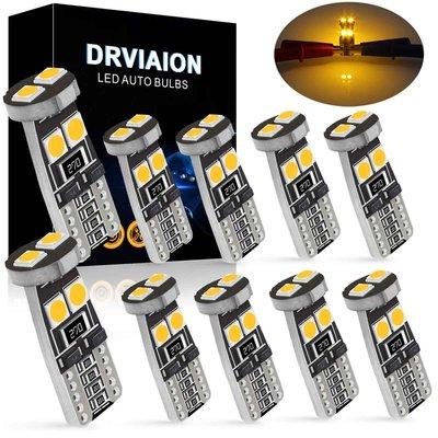 T10 Car Bulbs Led Error Free Canbus Smd 氙氣黃 W5W 501 Side Light Bulb-極限超快感