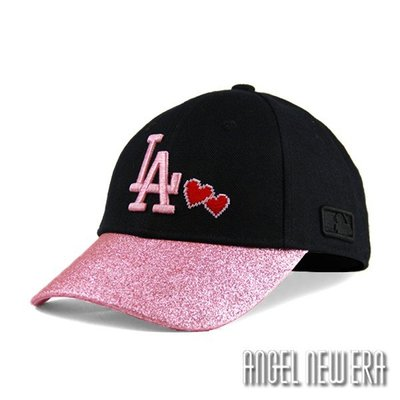 【PD帽饰】【MLB Old Fashioned Cap】道奇 LA 黑 粉紅 老帽 金蔥 鴨舌帽【ANGEL NEW ERA 】