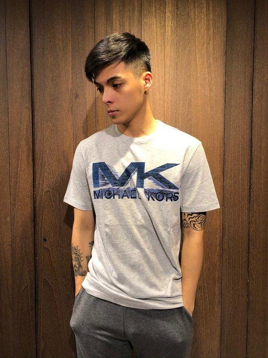 美國百分百【全新真品】 Michael Kors 短袖 T恤 MK 上衣 T-shirt MK 大 logo AI97