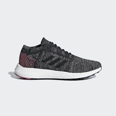 【Cool Shop】Adidas PureBOOST GO 張鈞甯 灰桃紅 編織 愛迪達 慢跑鞋 透氣 B75667