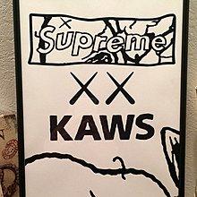 KAWS限量A4海報