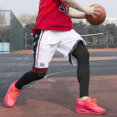 護膝籃球絲襪護腿褲襪護小腿專業運動護膝裝備全套襪套男跑步長款