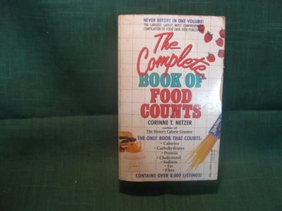 【愛悅二手書坊 06-18】 the  complete  book  of  food  counts