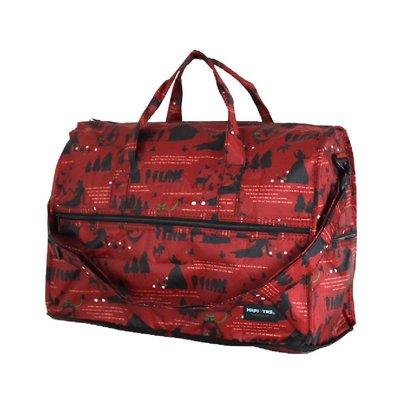 ╠趣買Cheaper ╣HAPI+TAS 日本品牌摺疊圓形旅行袋(小)(紅色白雪公主)(免運)