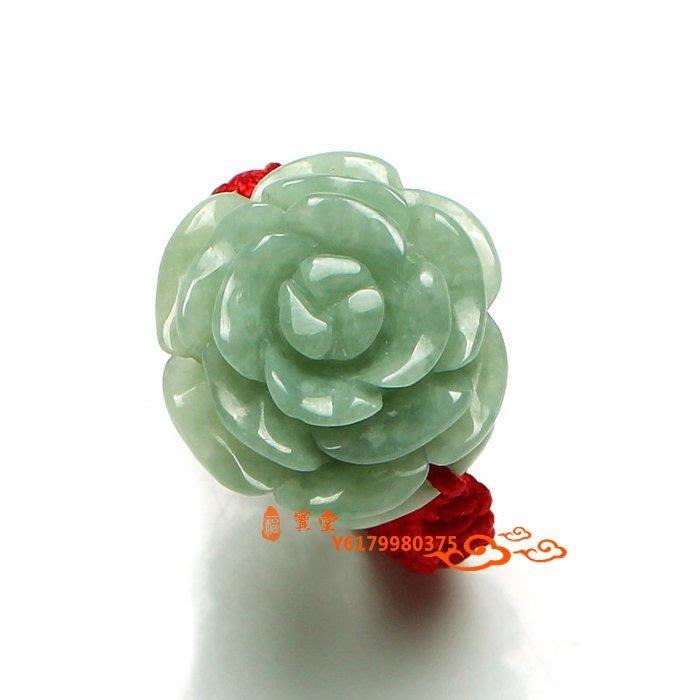 【福寶堂】天天特價翡翠玉戒指翡翠女款正品緬甸翡翠花朵戒指花開富貴玉指環