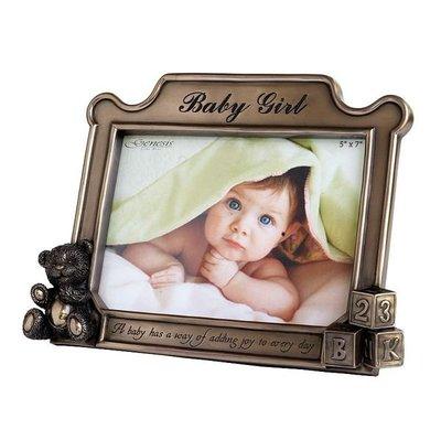 【芮洛蔓 La Romance】Genesis 冷鑄銅 5 x 7 相框 - Baby Girl (原價$3390)