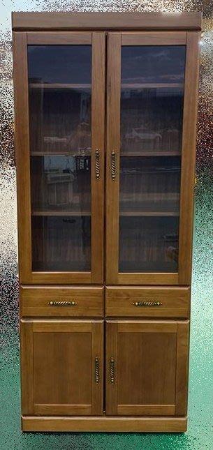 【樂居二手家具館】全新LC113DB5*德意3X7樟木中抽書櫃* 書架 書櫥 高底櫃 展示櫃 收納櫃 中古傢俱拍賣電視櫃