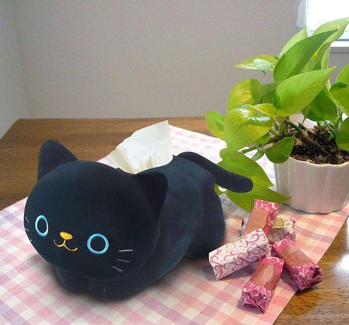 造型面紙套 布套 黑貓 立體造型 療癒系 浴室 廁所 衛生紙套 日版 新家禮物 吉吉 LUCI日本代購