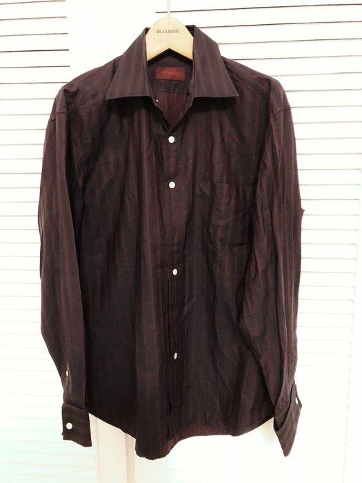 【D'URBAN】 暗紅條紋正式長袖襯衫👔