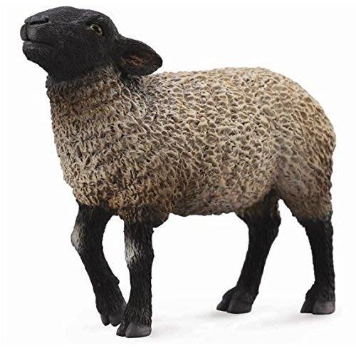 ^.^飛行屋(全新品)英國品牌 COLLECTA 仿真動物模型/農場時光 農場動物~薩福克羊/黑臉羊(88636)