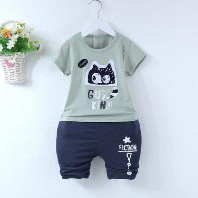 【現貨-E3114】1-4歲男女小童短袖套裝/夏天短袖套裝(上衣+褲子)