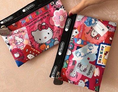 ♥ 小花日韓雜貨 ♥ -- 可愛kitty 聯名 lesportsac 收納小包