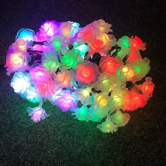 ☀傑太光能☀ 保固一年 太陽能燈新款10米 80LED 花朵燈串 戶外防水燈串 庭院裝飾燈(彩色) C-380