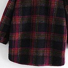 *大衣*歐美新款冬季格子襯衫妮子外套大衣Y13-39339