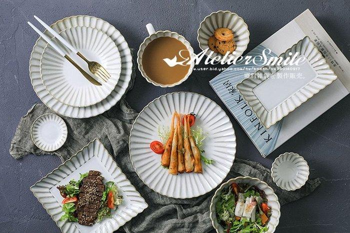 [ Atelier Smile ] 鄉村雜貨 日本 復古作舊 白均釉 盛菊陶瓷餐具 全10件 可單售 (現+預)