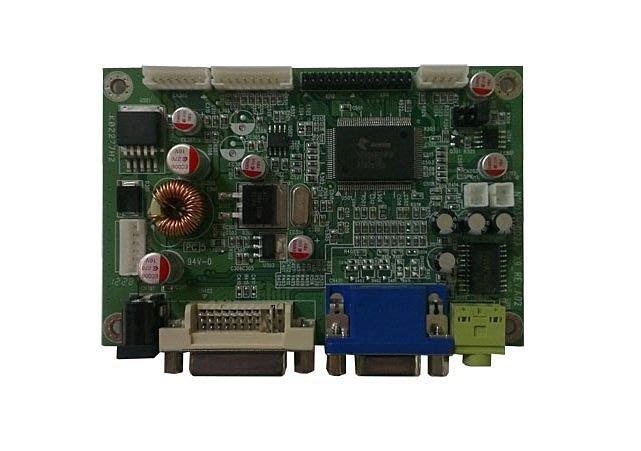 (液晶顯示器驅動板) A/D board (DVI+VGA, DC 12V, 固態電容)