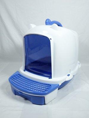 【優比寵物】ACEPET皇冠872-A藍白色舒活(落砂板+儲存盒)貓便屋/ 貓砂屋/ 貓沙屋(可加購內襯網篩變雙層)台灣製 高雄市