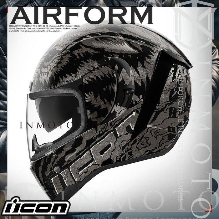 伊摩多※美國 iCON AIRform LYCAN  狼人 黑 全罩小帽體 安全帽 內墨片 2色 0101-12643