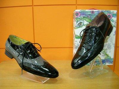 【阿典鞋店】**男鞋**Macanna* 麥坎納專櫃~果嶺2系列~全新鏡面黃牛皮~牛津鞋1607