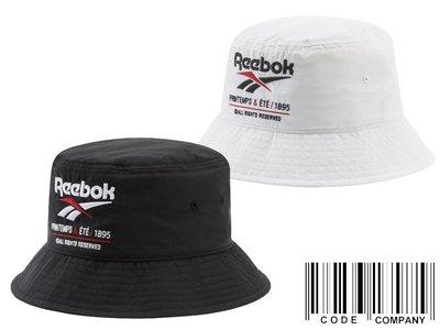 =CodE= REEBOK VECTOR BUCKET HAT 電繡圓頂漁夫帽(黑 白)EJ9355 EK0880 男女