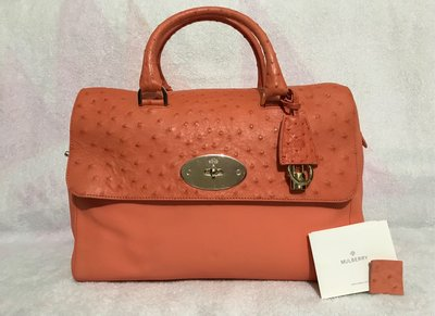 100%real & new Mulberry 鴕鳥皮 Del Rey Bag 原價約$30,000