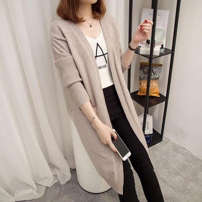 毛衣外套女女裝韓版百搭中長款針織衫女開衫寬鬆