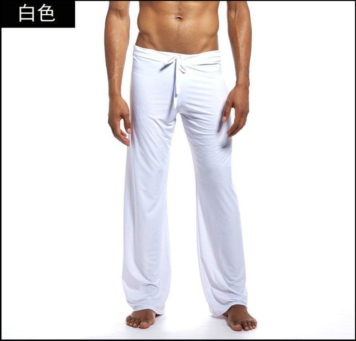 【褲衩】休閒長褲 爽滑寬鬆男士睡褲 透氣清涼家居褲 休閒睡褲 貨號:FY006
