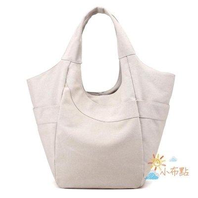 帆布包歐美風大容量簡約手提包單肩包時尚女包帆布包森繫布藝單肩包女包AMSS