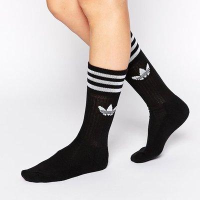 【吉米.tw】現貨ADIDAS SOLID CREW SOCK 三葉草 白中筒襪長襪子3入 白S21489黑S21490