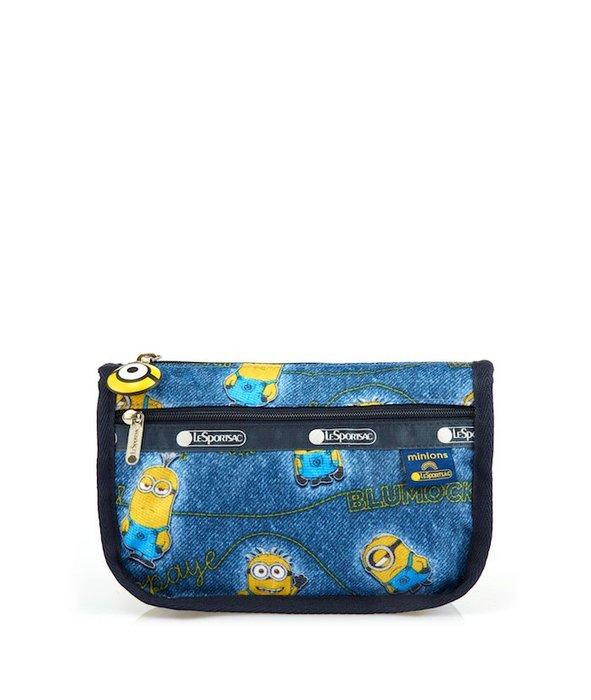 ♥ 小花日韓雜貨 ♥ --LeSportsac 7315 旅行防水包化妝包筆袋藍色小小兵