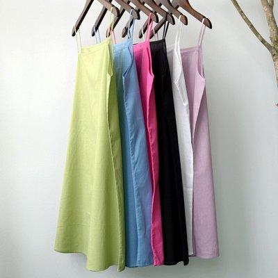 (老銀屋)百搭純棉中長款吊帶襯裙