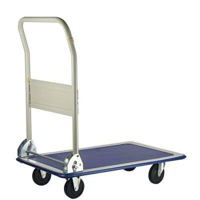 【TRENY直營】折疊式載物車 荷重90kg 手推車 載物車 台車 四輪推車 文具車 營業 居家 6735