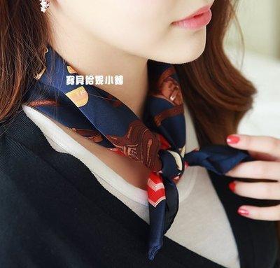 BHP341-韓國進口漂亮彩色小馬領巾 絲巾 圍巾【韓國製】