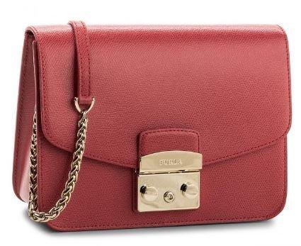 安安精品保證全新正品 FURLA 94915 RUBY紅牛皮金鍊肩背包-義大利80年知名皮具品牌