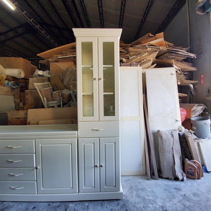 美生活館 美式鄉村古典家具訂製 客製化 全紐松 象牙白色 單抽四門收納櫃 ( 寬60 ) 書櫃 展示櫃 餐具櫃