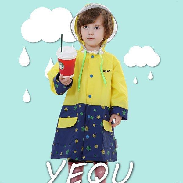 5Cgo【鴿樓】會員有優惠 522005371547 兒童雨衣大帽沿韓版雨披寶寶小孩男女童戶外防雨帶書包位 有內襯