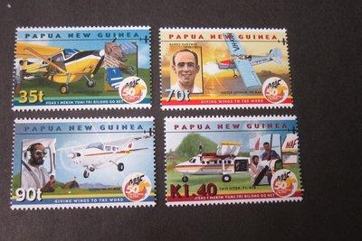 【雲品】巴布亞新幾內亞Papua New Guinea Sc 1001-1004 ransport aircrafts set MNH