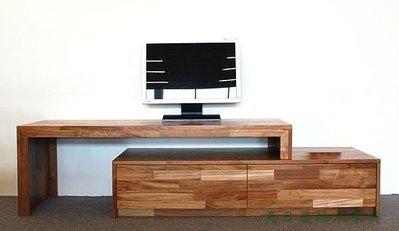 【美日晟柚木家具】TV27 柚木伸縮電視櫃  活動式電視櫃  角落邊櫃 穿鞋坐椅