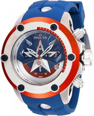 《大男人》漫威美國隊長限量款Invicta #8420瑞士大錶徑50MM個性潛水錶,非常稀有(本賣場全現貨)