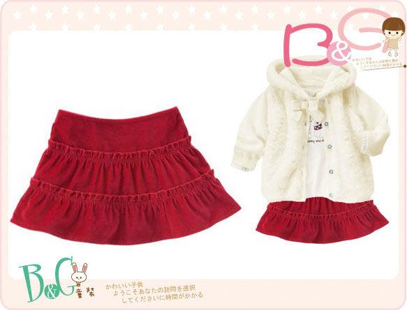 【B& G童裝】正品美國進口Crazy8細絨蛋糕型短裙2yrs