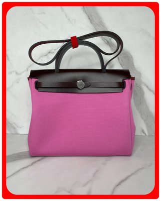【 RECOVER 名品二手SOLD OUT 】HERMES HERBAG 31 帆布包