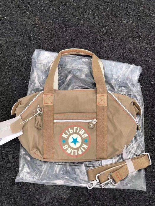 Kipling 猴子包 K15410 深棕卡其色 可變形 輕量肩背 手提 斜背多用包款 小號 限時優惠 防水 數量有限