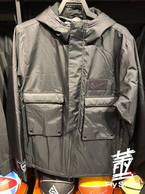 [飛董] NIKE LEBRON 大衣 多口袋 工裝 保暖 連帽 運動外套 CK6772-010 黑