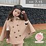 韓版女童斗篷外套。ROUROU童裝。秋冬女童中...
