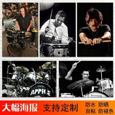 雜貨小鋪 buddy rich/Vinny Appice/Carmine Appice架子鼓手自粘海報墻貼畫/訂單滿200元出貨