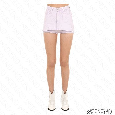 【WEEKEND】 PUSHBUTTON 假兩件 牛仔 熱褲 褲裙 淺粉色