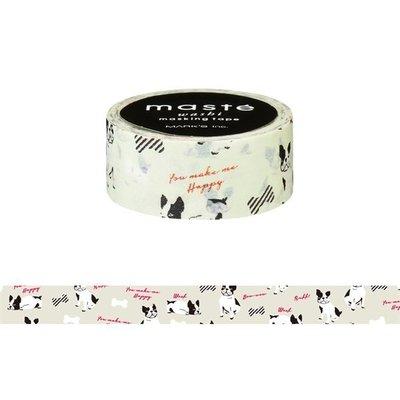 【R的雜貨舖】紙膠帶分裝 MARK'S maste和紙膠帶-ィ/フレンチブルドッグ 法鬥 鬥牛犬